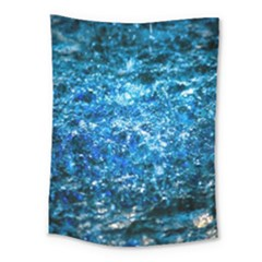 Water Color Blue Medium Tapestry