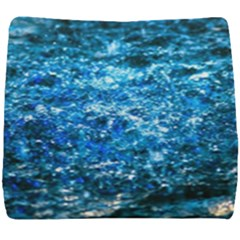 Water Color Blue Seat Cushion by FunnyCow