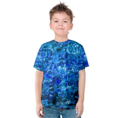 Water Color Navy Blue Kids  Cotton Tee