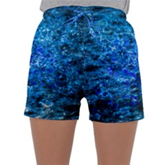 Water Color Navy Blue Sleepwear Shorts