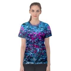 Water Color Violet Women s Sport Mesh Tee