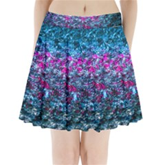 Water Color Violet Pleated Mini Skirt