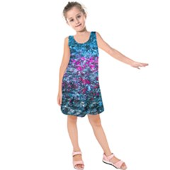 Water Color Violet Kids  Sleeveless Dress