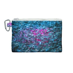 Water Color Violet Canvas Cosmetic Bag (medium) by FunnyCow