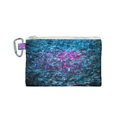 Water Color Violet Canvas Cosmetic Bag (small) by FunnyCow