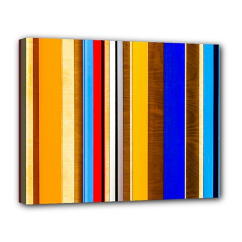 Colorful Stripes Canvas 14  X 11