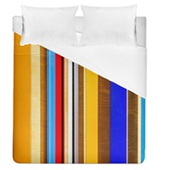 Colorful Stripes Duvet Cover (queen Size) by FunnyCow