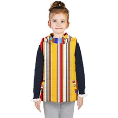 Colorful Stripes Kid s Hooded Puffer Vest