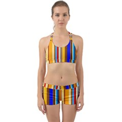 Colorful Stripes Back Web Gym Set