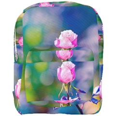 Pink Rose Flower Full Print Backpack by FunnyCow