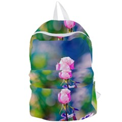 Pink Rose Flower Foldable Lightweight Backpack by FunnyCow
