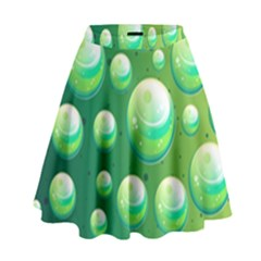 Background Colorful Abstract Circle High Waist Skirt