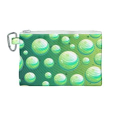 Background Colorful Abstract Circle Canvas Cosmetic Bag (medium)