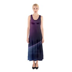 Abstract Form Color Background Sleeveless Maxi Dress