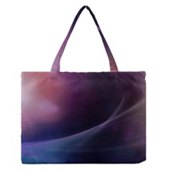 Abstract Form Color Background Zipper Medium Tote Bag