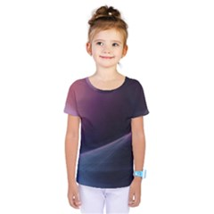 Abstract Form Color Background Kids  One Piece Tee