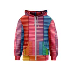 Background Colorful Abstract Kids  Zipper Hoodie