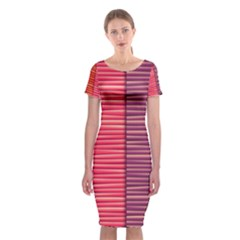 Background Colorful Abstract Classic Short Sleeve Midi Dress