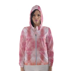 Heart Background Wallpaper Love Hooded Windbreaker (women)