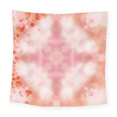 Heart Background Wallpaper Love Square Tapestry (large)