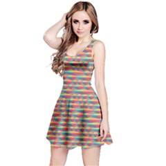 Background Abstract Colorful Reversible Sleeveless Dress