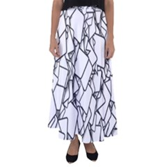 Balloons Feedback Confirming Clouds Flared Maxi Skirt