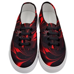 Abstract Curve Dark Flame Pattern Women s Classic Low Top Sneakers