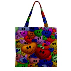 Heart Love Smile Smilie Zipper Grocery Tote Bag