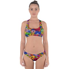 Heart Love Smile Smilie Cross Back Hipster Bikini Set