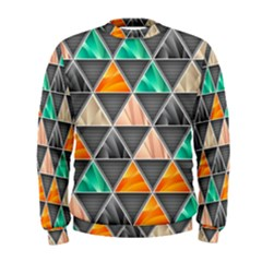 Abstract Geometric Triangle Shape Men s Sweatshirt