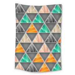 Abstract Geometric Triangle Shape Large Tapestry