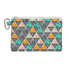 Abstract Geometric Triangle Shape Canvas Cosmetic Bag (large) by Nexatart