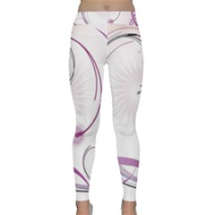 Abstract Background Flowers Classic Yoga Leggings
