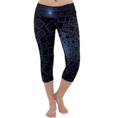 Pattern Abstract Fractal Art Capri Yoga Leggings