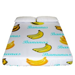 Bananas Fitted Sheet (queen Size)