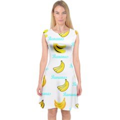 Bananas Capsleeve Midi Dress
