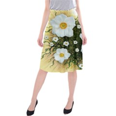 Summer Anemone Sylvestris Midi Beach Skirt