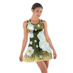 Summer Anemone Sylvestris Cotton Racerback Dress