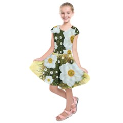 Summer Anemone Sylvestris Kids  Short Sleeve Dress