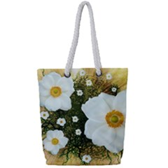 Summer Anemone Sylvestris Full Print Rope Handle Tote (small) by Nexatart