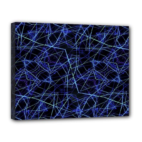 Galaxy Linear Pattern Canvas 14  X 11