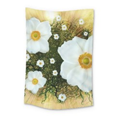 Summer Anemone Sylvestris Small Tapestry