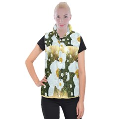 Summer Anemone Sylvestris Women s Button Up Vest