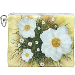 Summer Anemone Sylvestris Canvas Cosmetic Bag (xxxl)