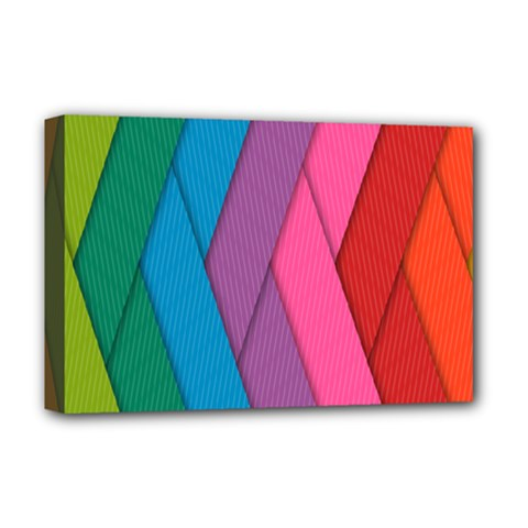 Abstract Background Colorful Strips Deluxe Canvas 18  X 12