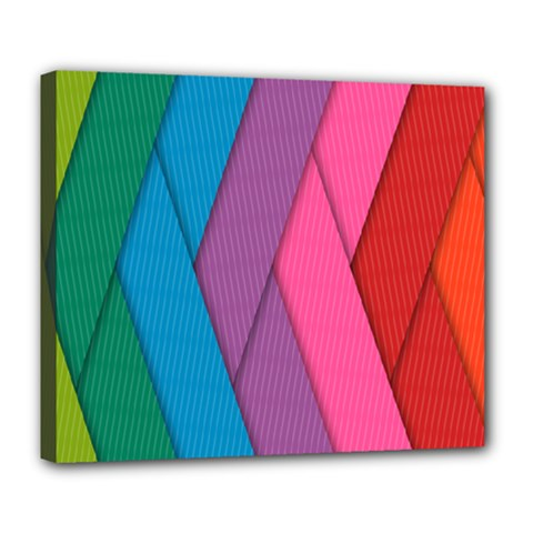 Abstract Background Colorful Strips Deluxe Canvas 24  X 20