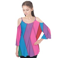 Abstract Background Colorful Strips Flutter Tees