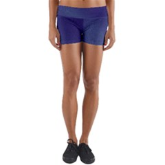 Fractal Rendering Background Blue Yoga Shorts