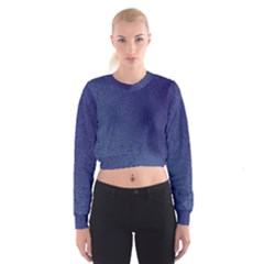 Fractal Rendering Background Blue Cropped Sweatshirt