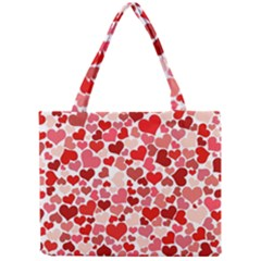 Abstract Background Decoration Hearts Love Mini Tote Bag